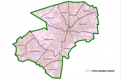 City of Lincoln Council Ward Boundary map